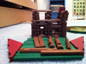 Lincoln Log House by a 4 Year Old