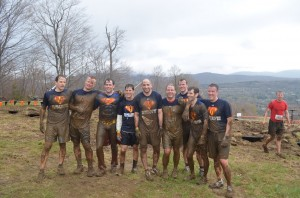 My team at the tough mudder. It was a bachelor party. Superman was the man of honor. He did the whole race dressed like that.